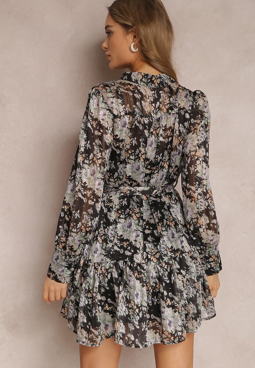 Czarna Sukienka Shimmerfreeze