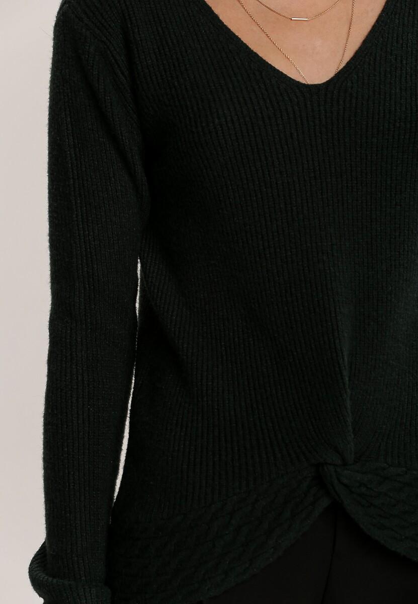 Ciemnozielony Sweter Adridan