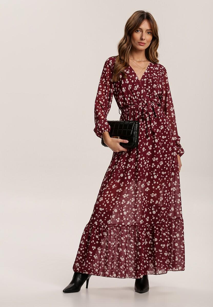 Bordowa Sukienka Magwraek