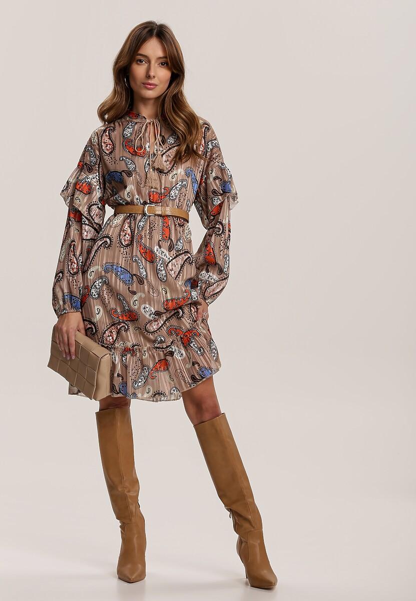 Beżowa Sukienka Yelmys