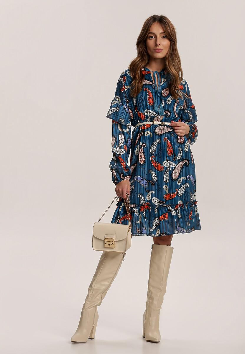 Granatowa Sukienka Yelmys