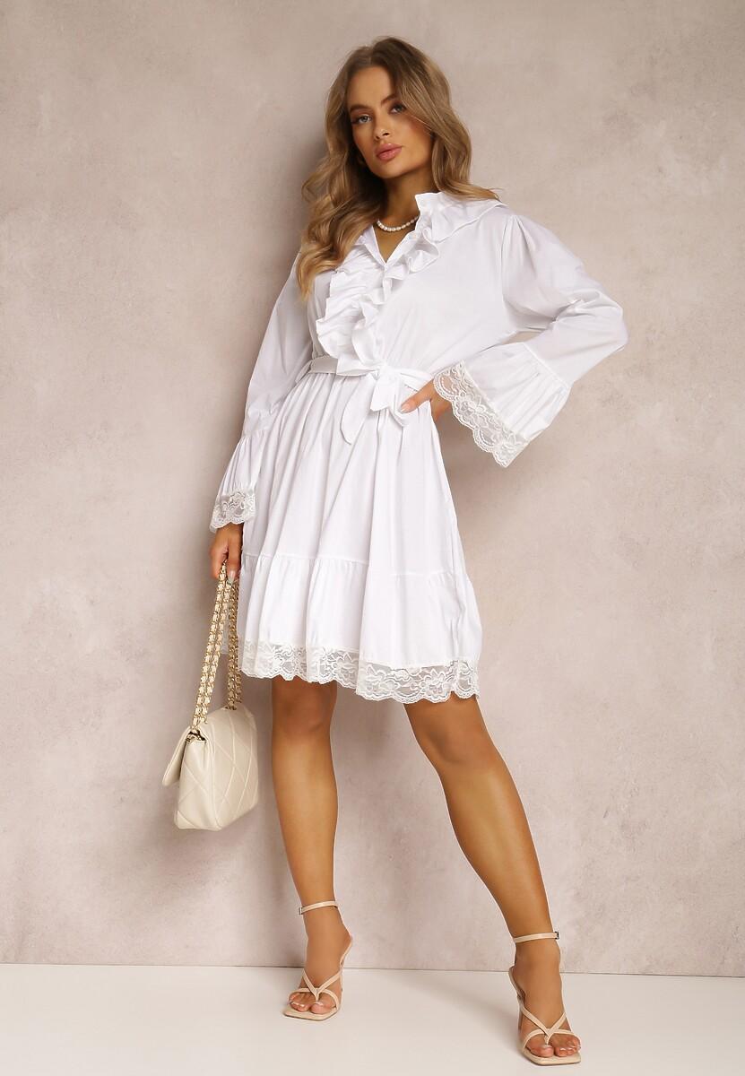 Biała Sukienka Wranfaren