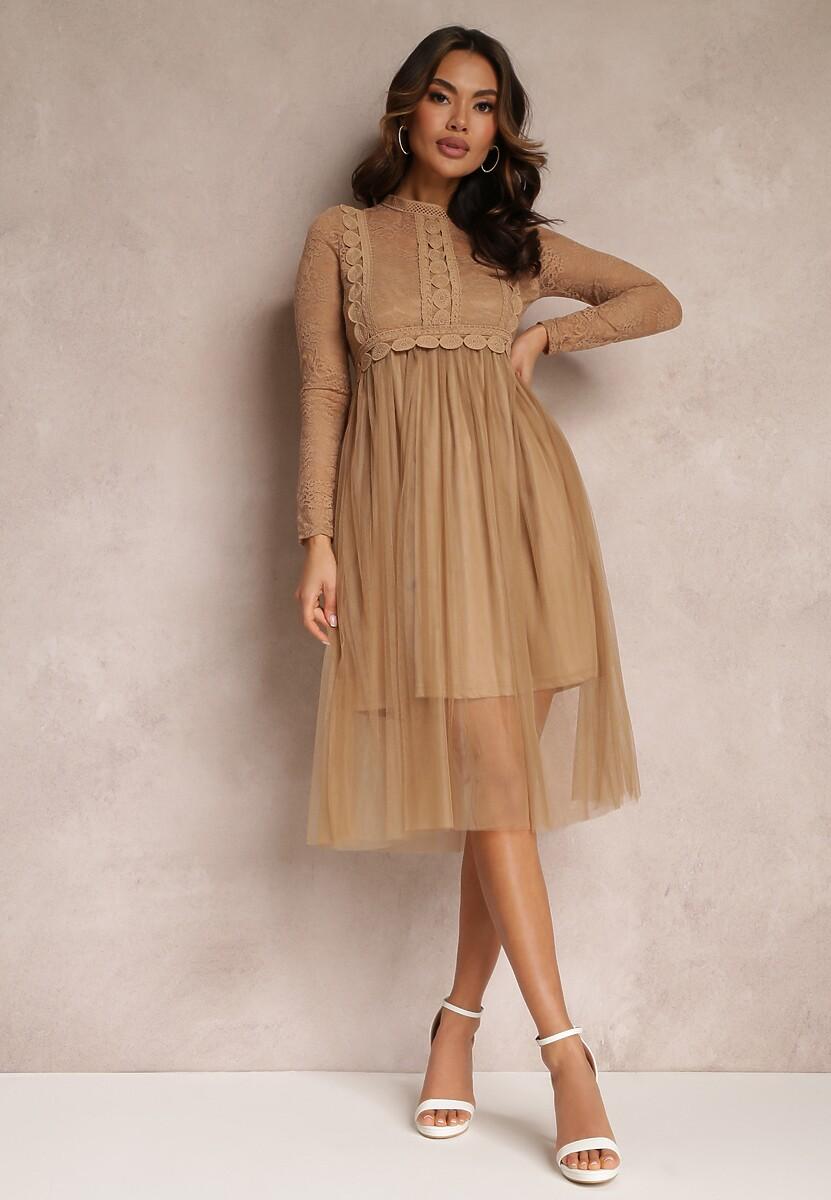 Brązowa Sukienka Aeznessa