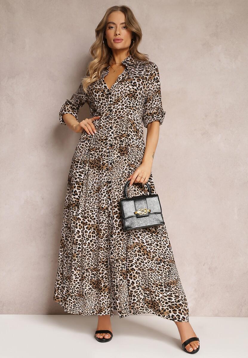 Beżowa Sukienka Isoli