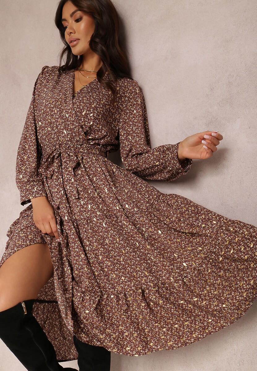 Brązowa Sukienka Vensalor