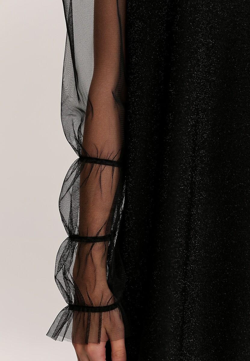 Czarna Sukienka Dzianinowa Aubriel