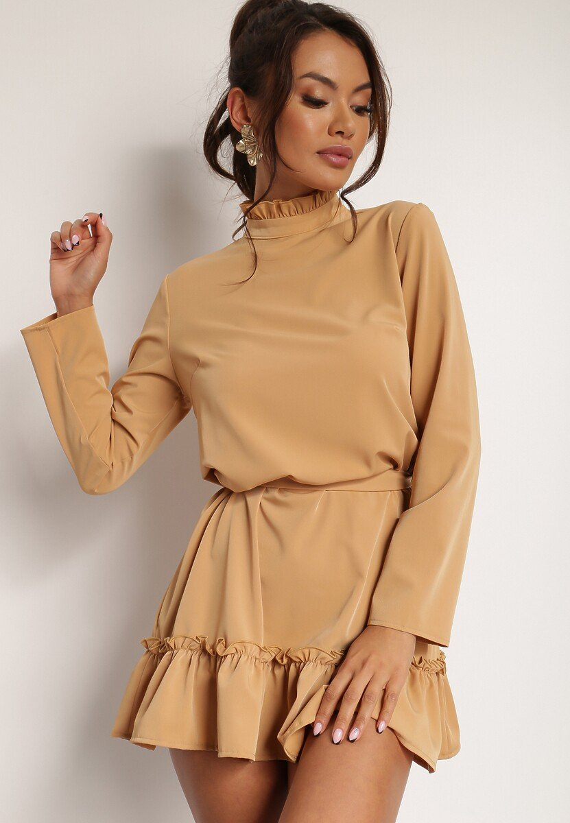 Beżowa Sukienka Magroris