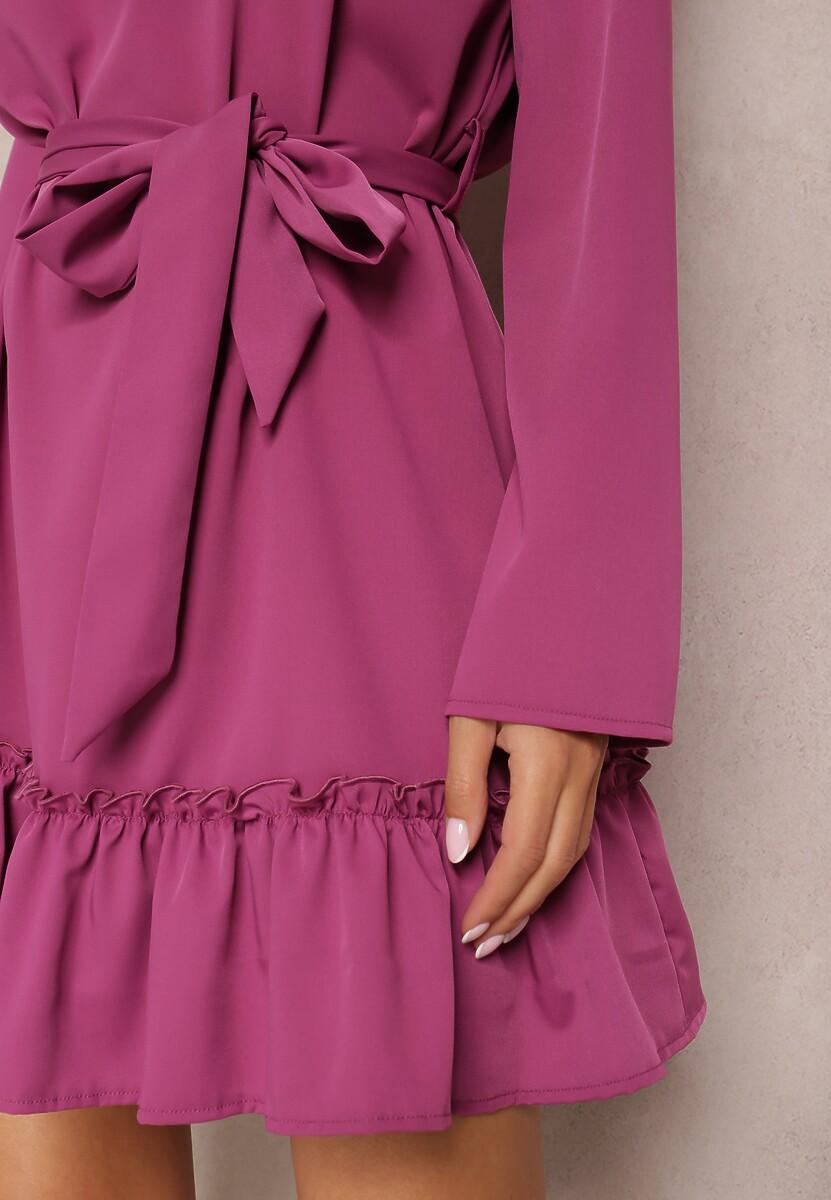 Fioletowa Sukienka Magroris