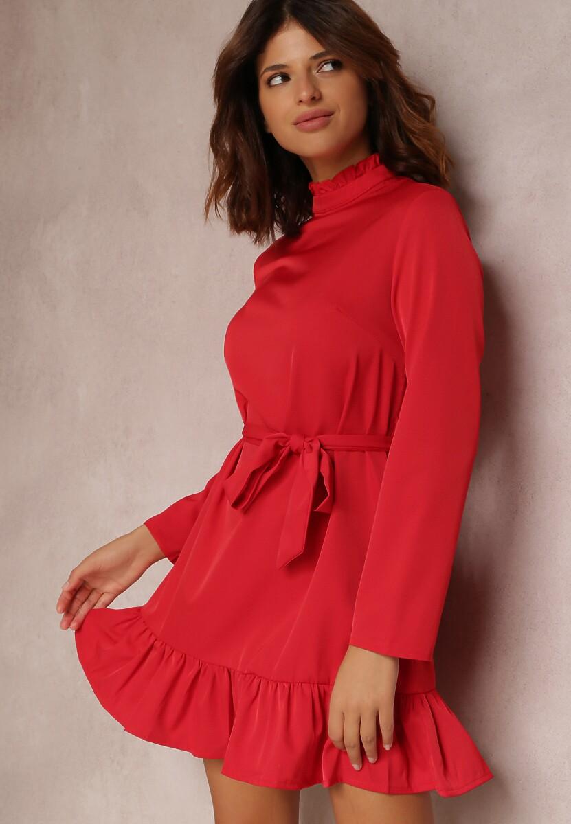 Bordowa Sukienka Magroris