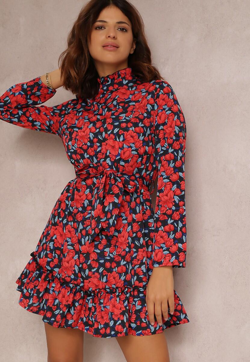 Czarno-Czerwona Sukienka Loragolor