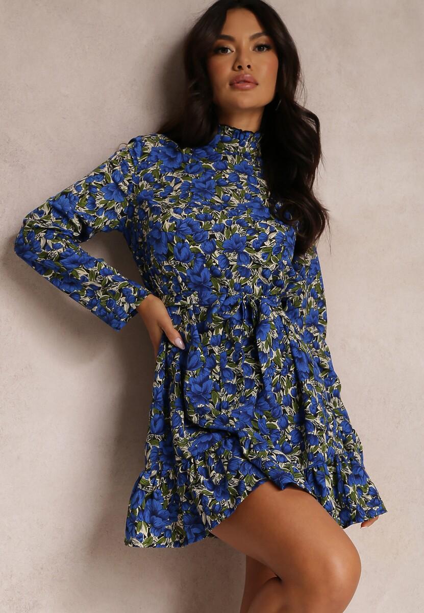 Niebieska Sukienka Loragolor