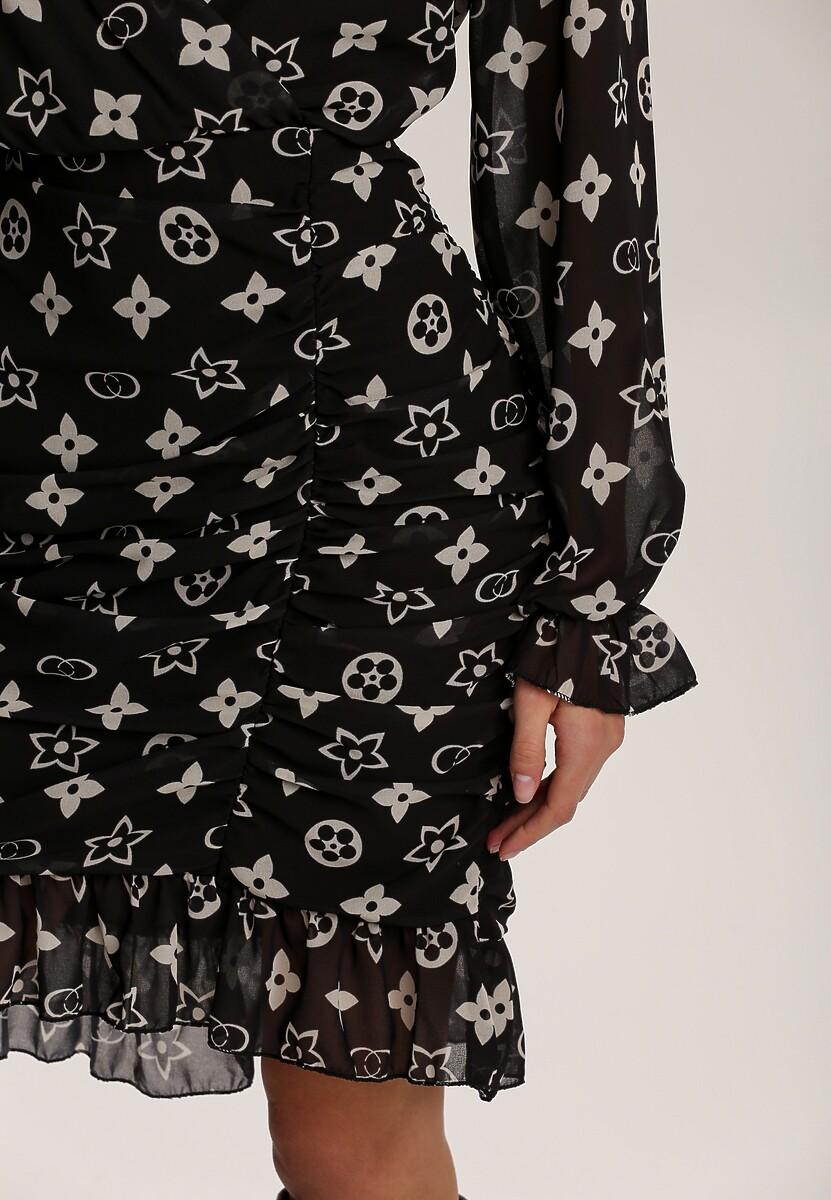 Czarno-Biała Sukienka Herkian
