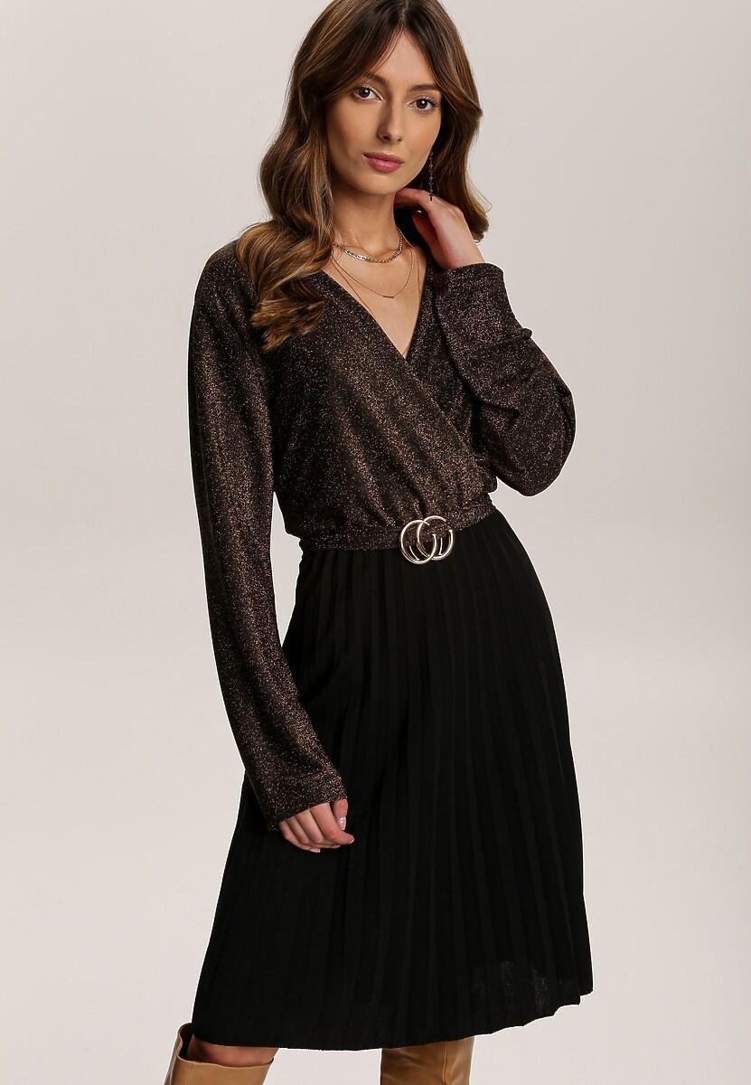 Czarno-Brązowa Sukienka Virjeon