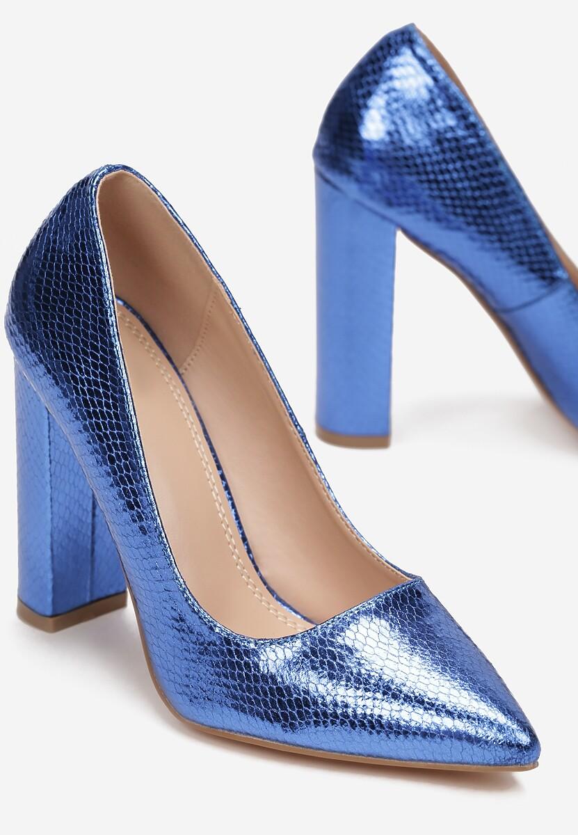 Niebieskie Czółenka Isellynn