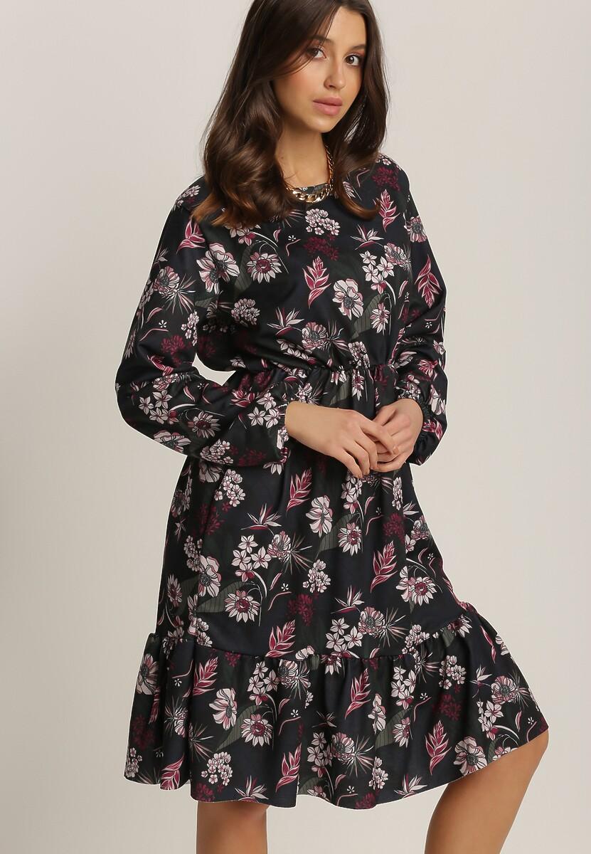 Ciemnogranatowa Sukienka Inoceneia