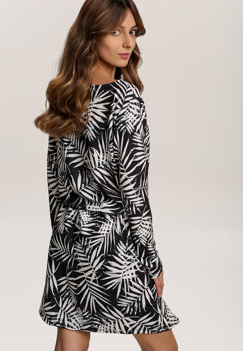 Czarno-Biała Sukienka Zapopa