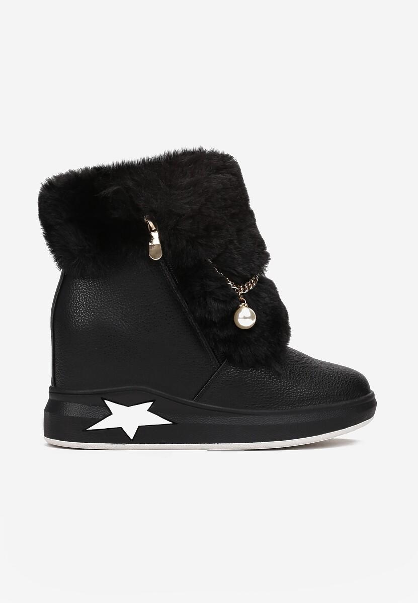 Czarne Sneakersy Phiania