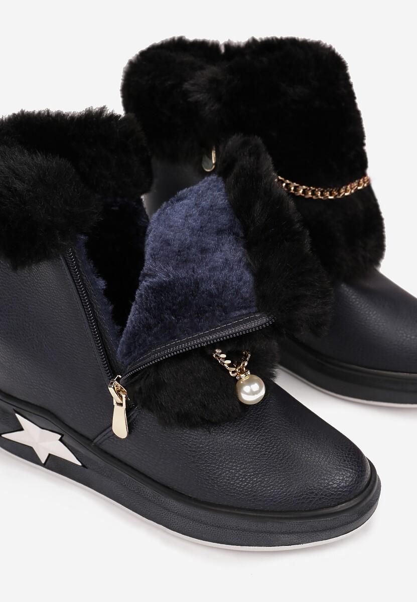 Granatowe Sneakersy Phiania