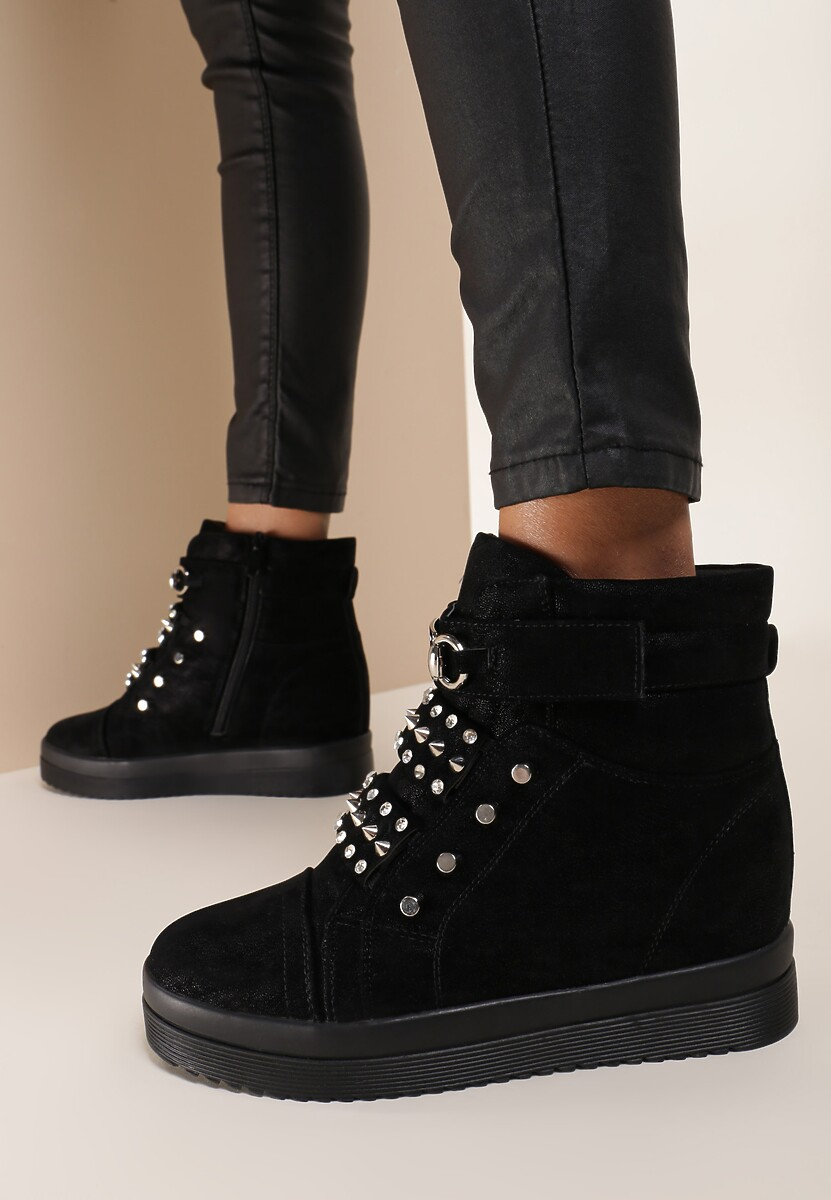 Czarne Sneakersy Flatterbeam