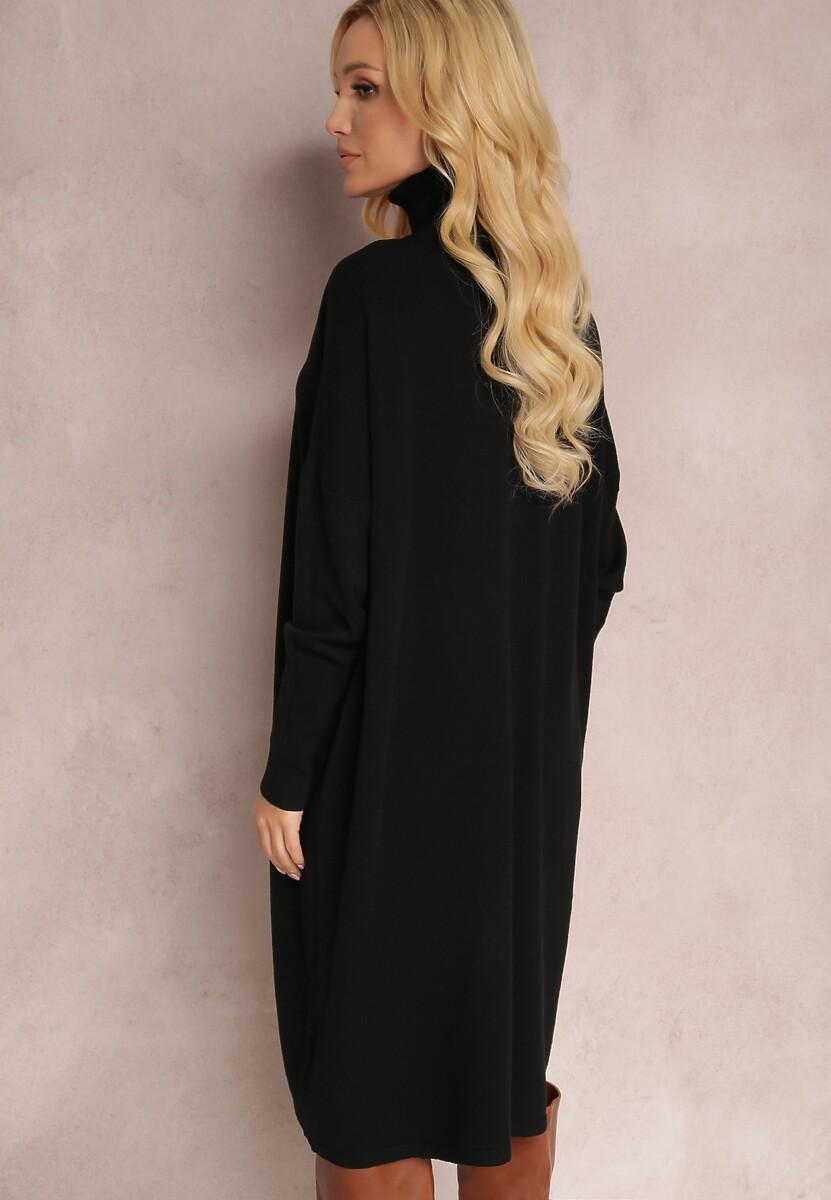 Czarna Sukienka Dzianinowa Hollywillow