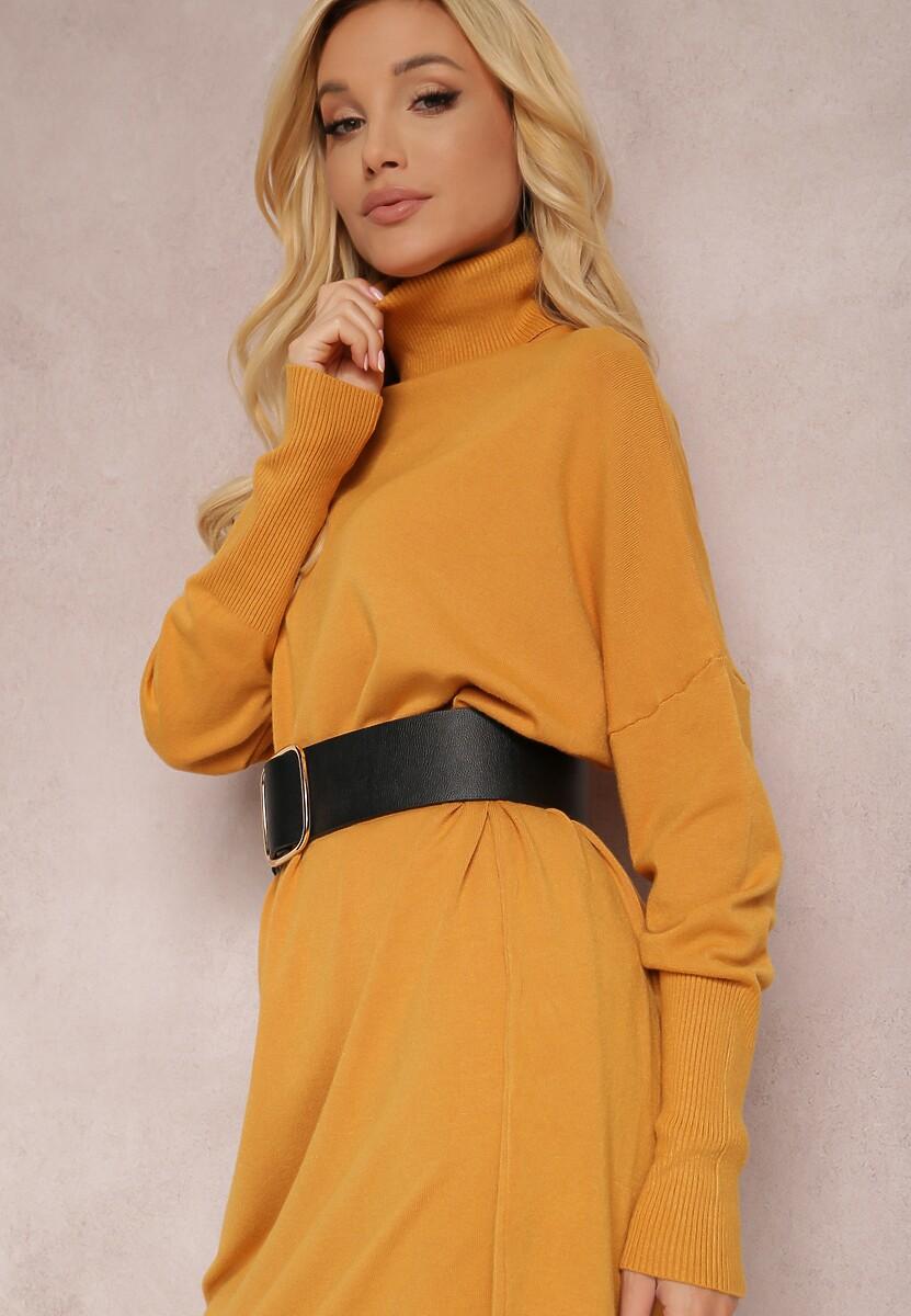 Żółta Sukienka Dzianinowa Hollywillow