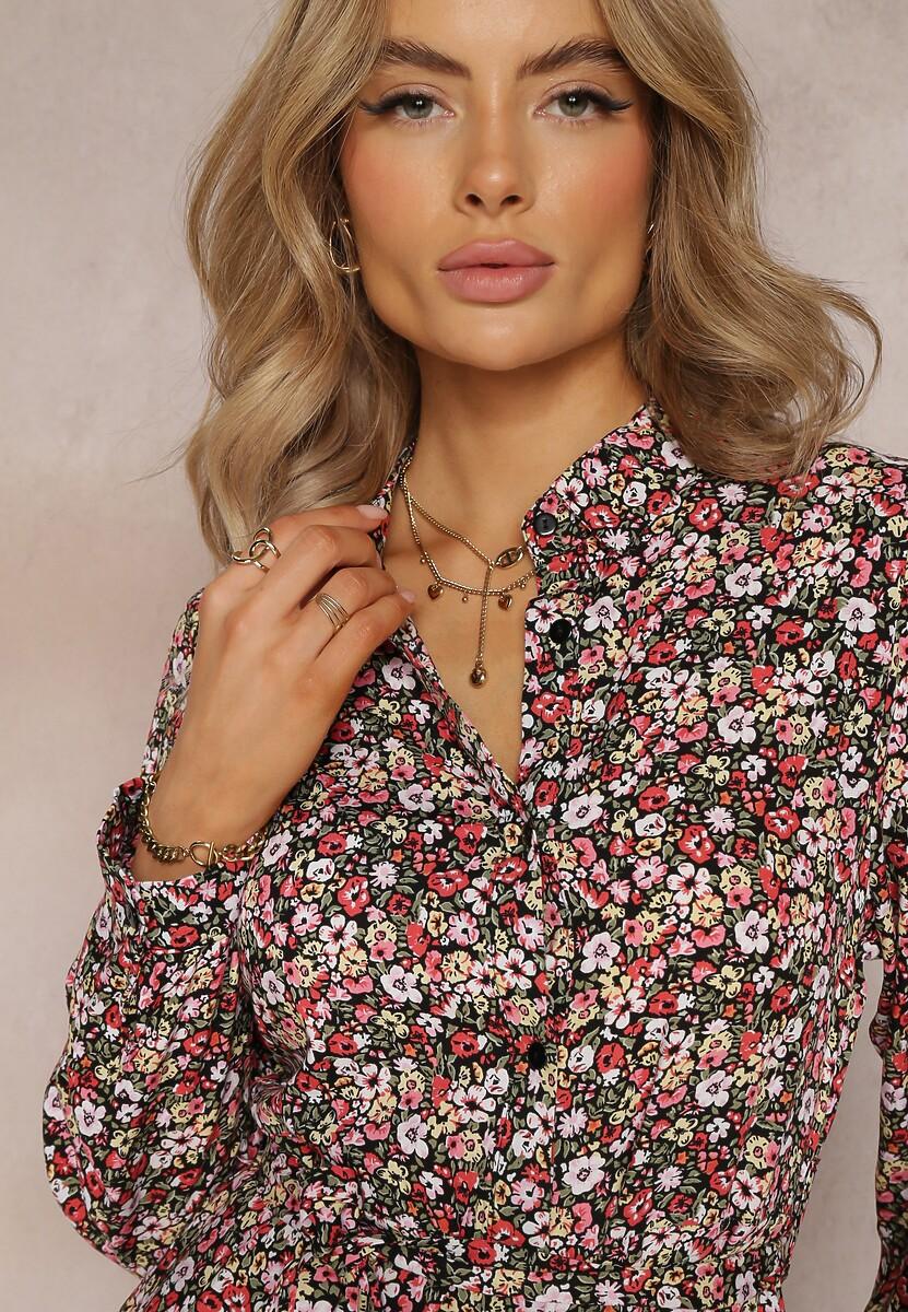 Czarno-Różowa Sukienka Adreabel