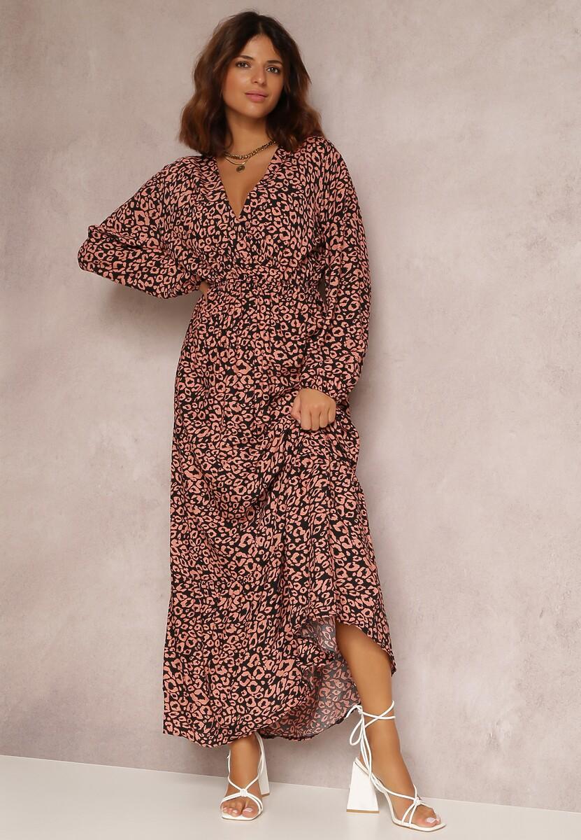Czarno-Różowa Sukienka Jynixia