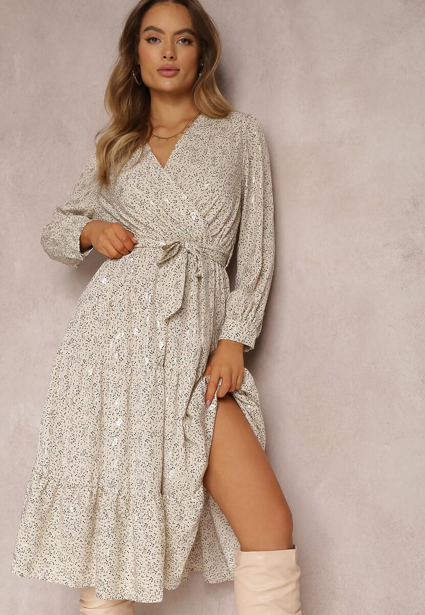 Jasnobeżowa Sukienka Sundove