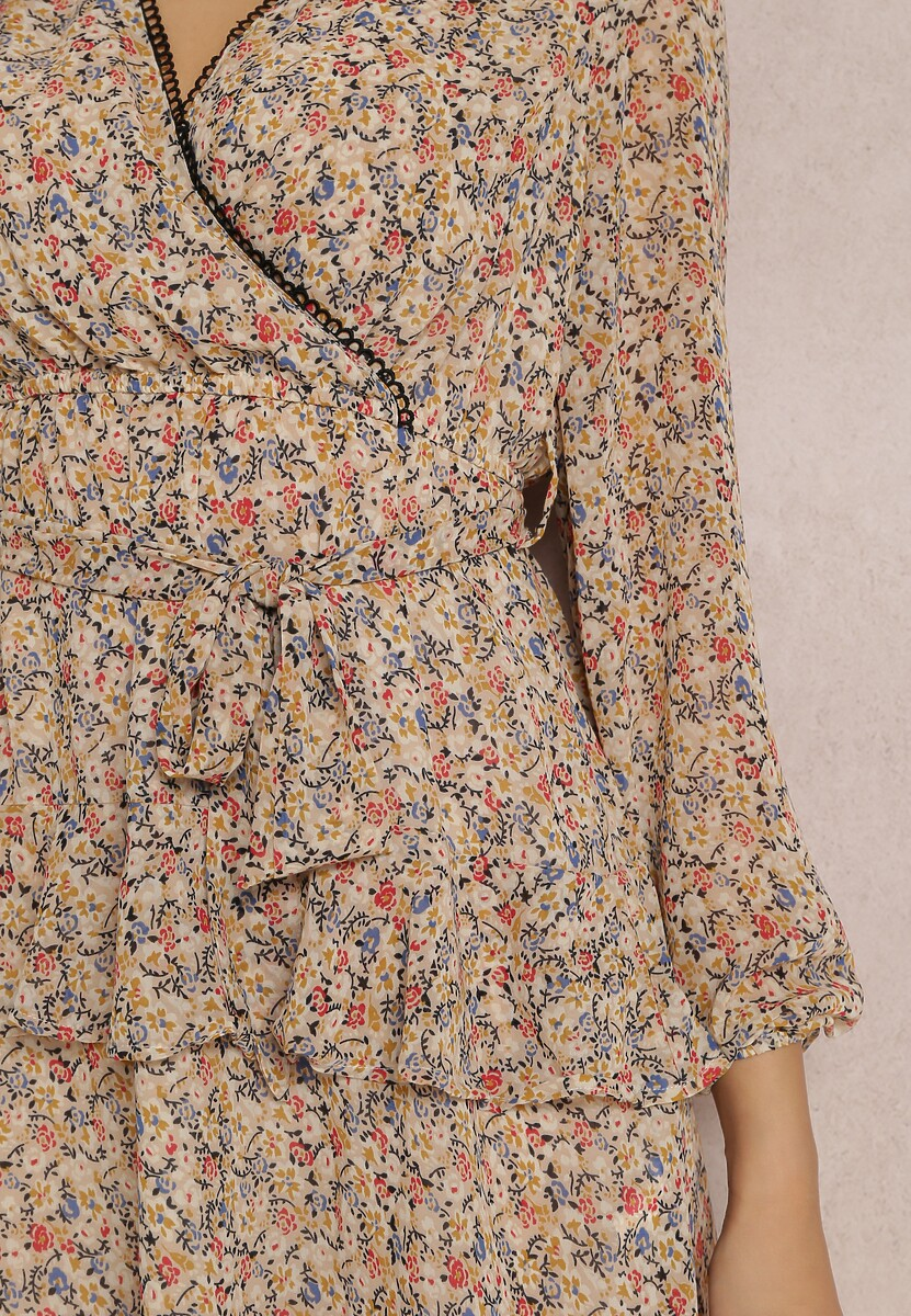 Jasnobeżowa Sukienka Aroalophi