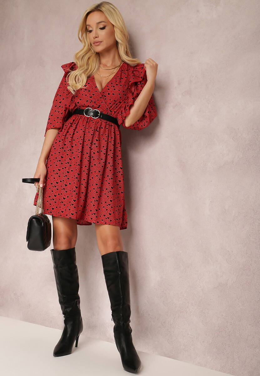 Czerwona Sukienka Nonamelle