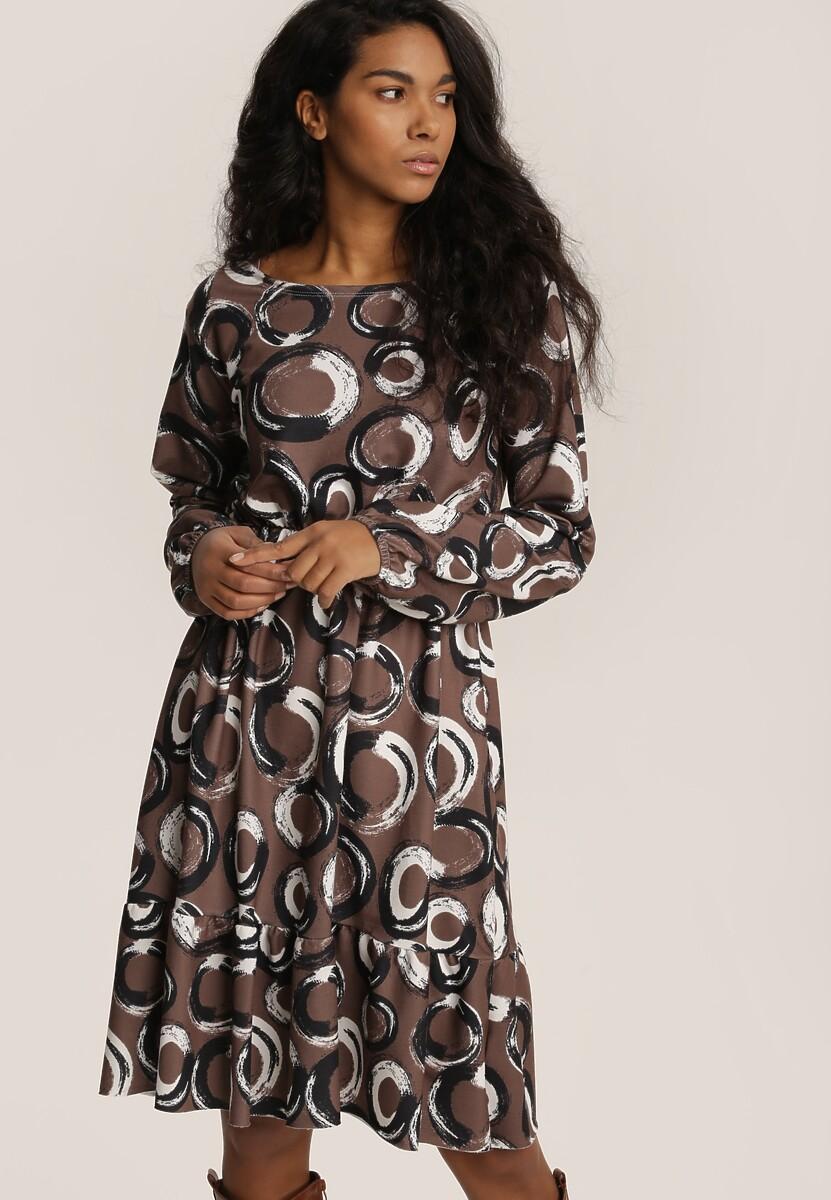 Ciemnozielona Sukienka Inoceneia