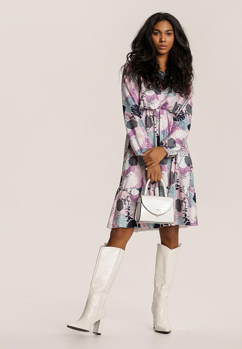 Jasnofioletowa Sukienka Inoceneia