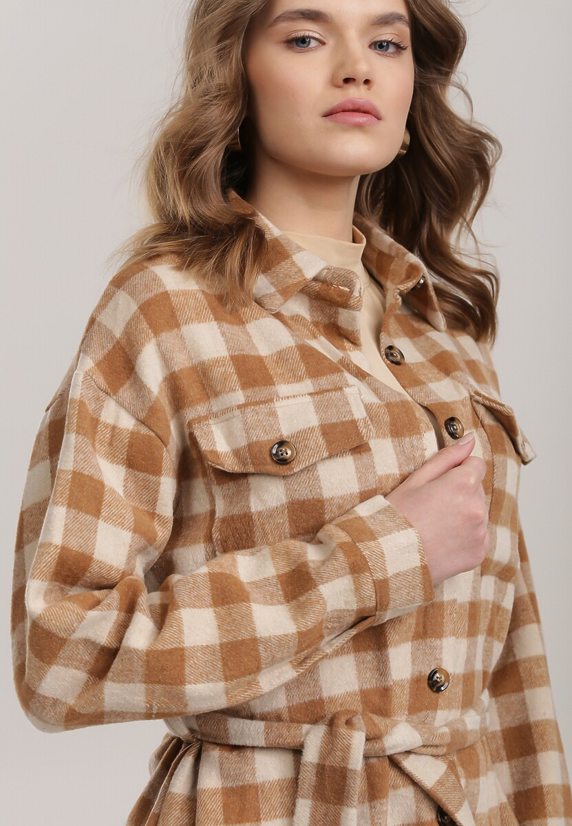 Ciemnobeżowa Koszula Thessagana