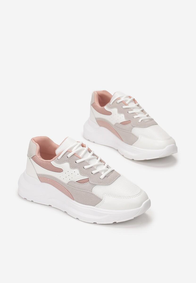 Biało-Różowe Sneakersy Delaguna