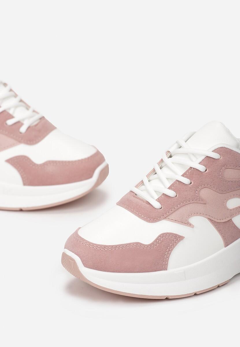 Biało-Różowe Sneakersy Hicalla