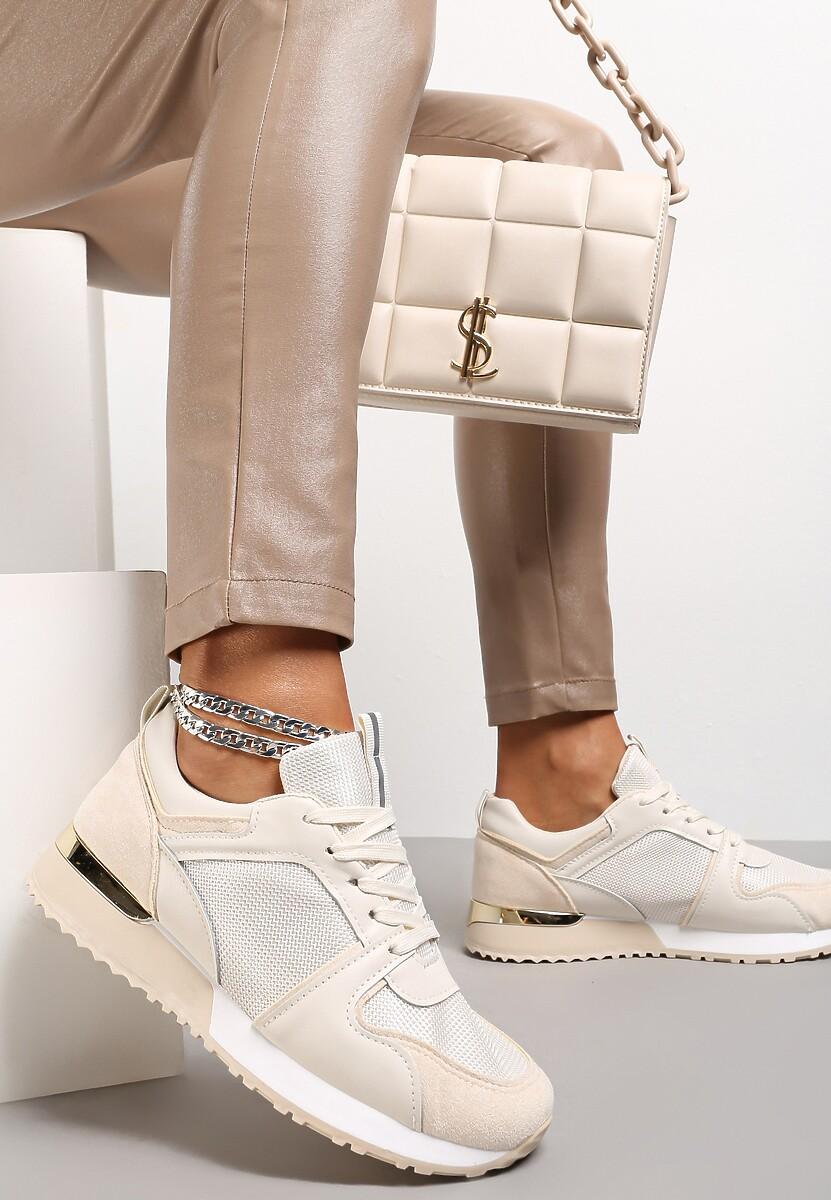 Beżowe Buty Sportowe Assandre