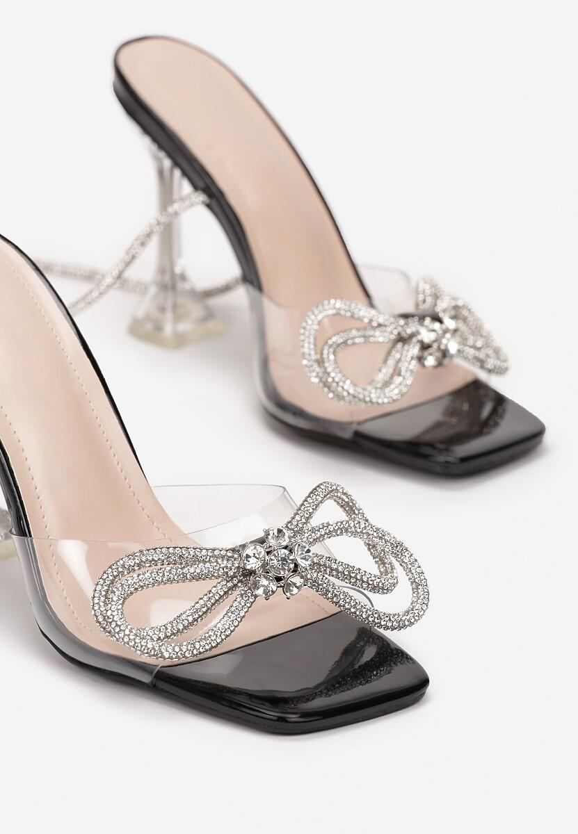 Czarne Sandały Samise