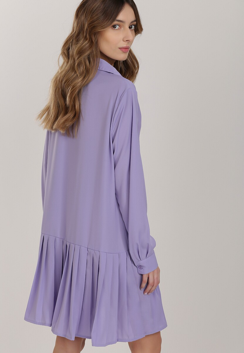 Liliowa Sukienka Savaraxaura