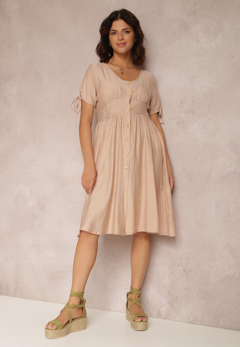 Beżowa Sukienka Prisertes