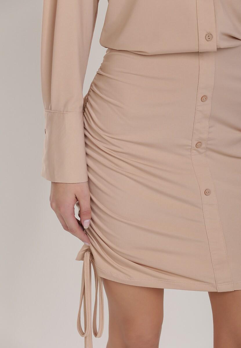 Beżowa Sukienka Lephissis