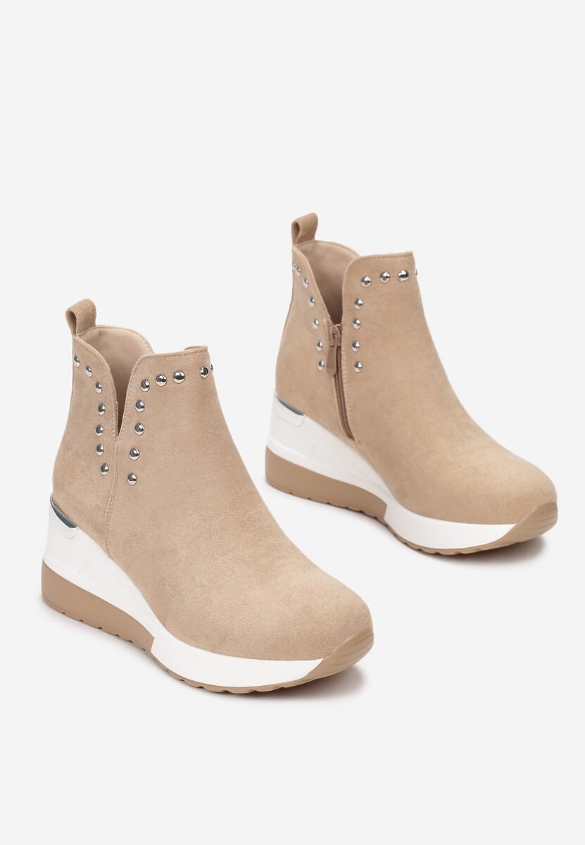 Beżowe Sneakersy Neamethe