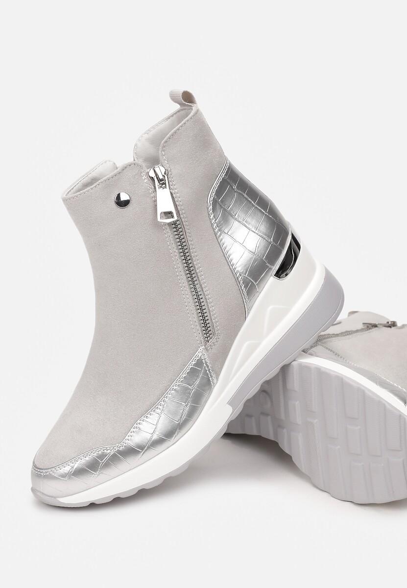 Szare Sneakersy Yserith