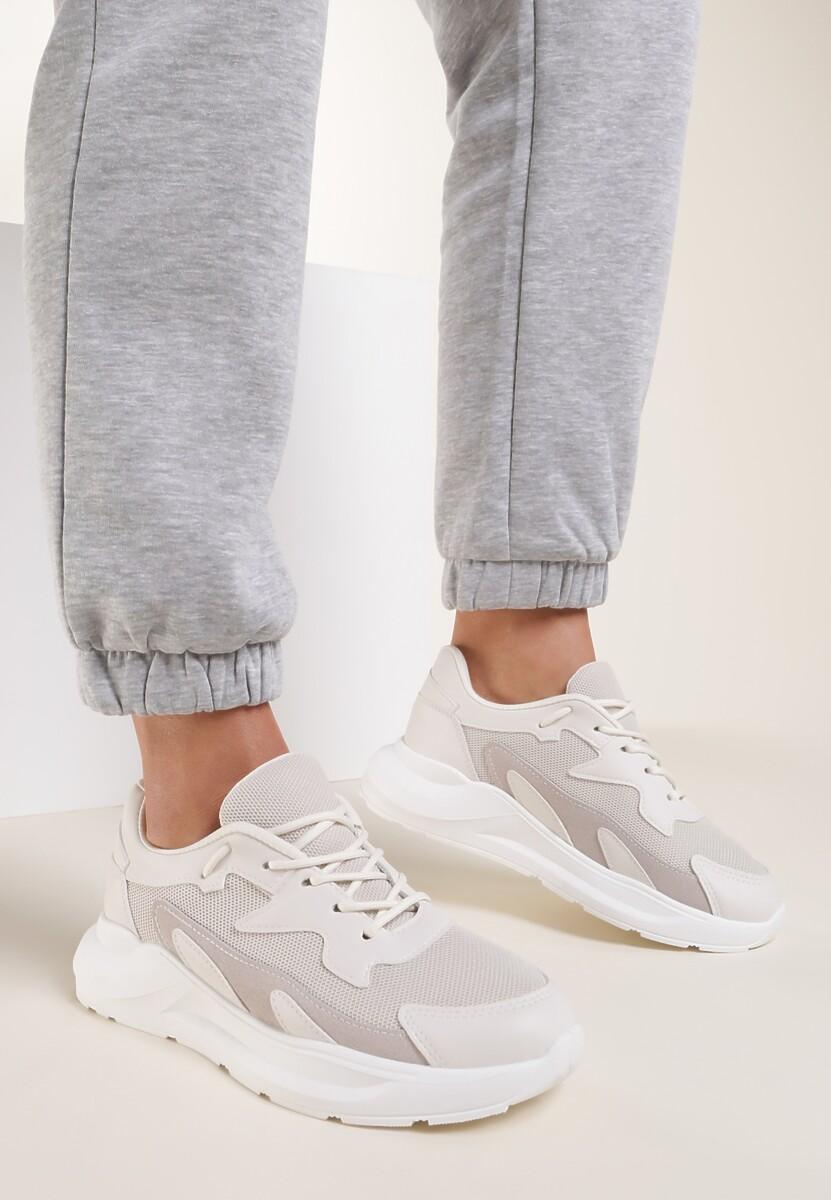 Jasnobeżowe Sneakersy Nautinne