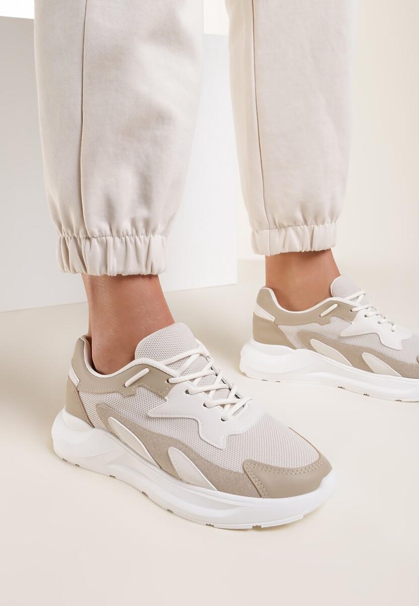 Beżowe Sneakersy Nautinne