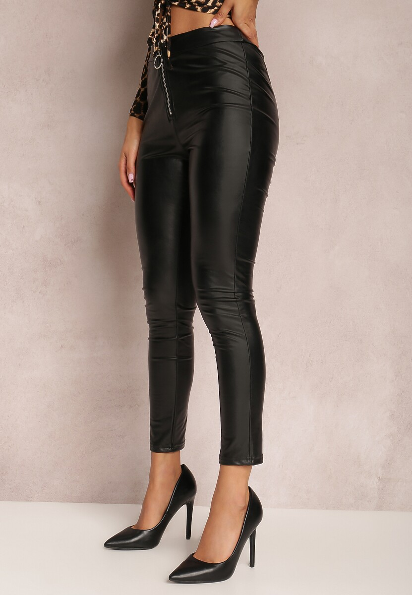 Czarne Spodnie Skinny Mererina
