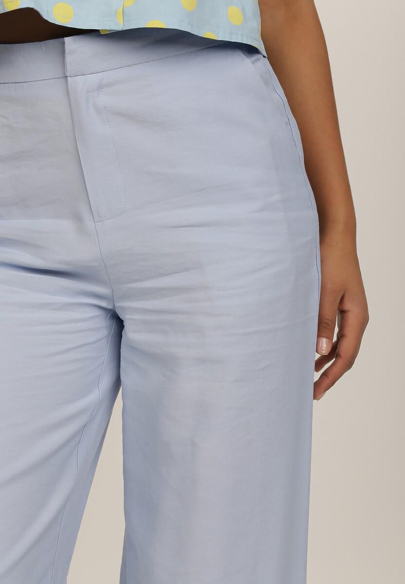 Jasnoniebieskie Spodnie Szerokie Rosha