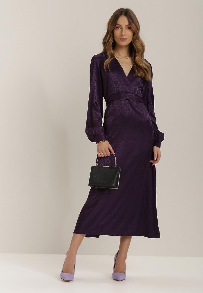 Fioletowa Sukienka Adopheia