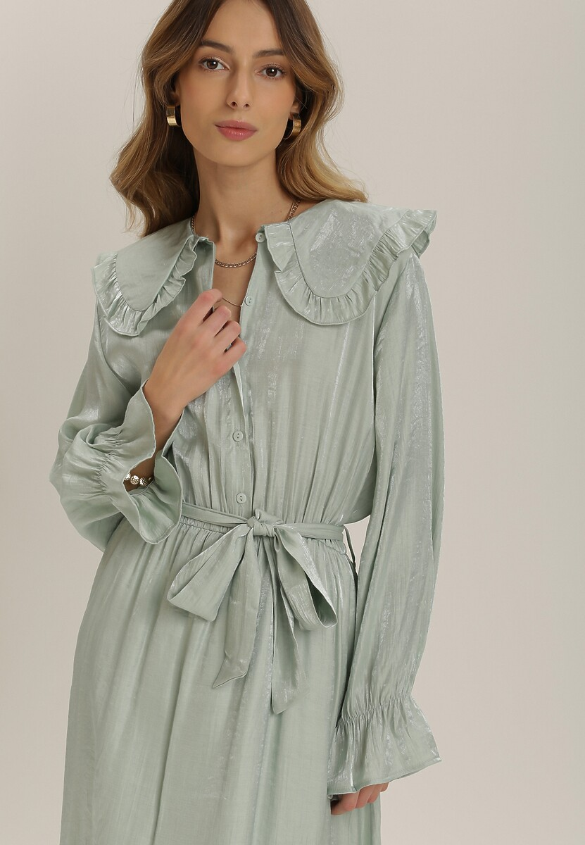 Miętowa Sukienka Jenynna
