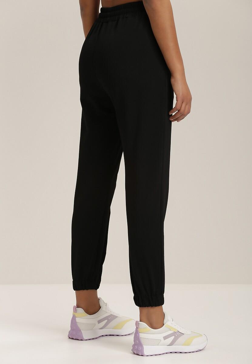 Czarne Spodnie Dresowe Typhanos