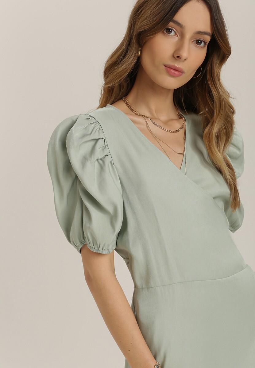 Miętowa Sukienka Laophite